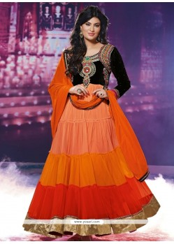 Classy Multi Colour Zari Work Georgette Anarkali Suit