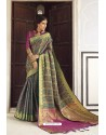 Multi Colour Designer Party Wear Banarasi Weaving Silk Sari