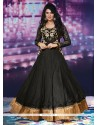 Unique Black Net Anarkali Salwar Suit