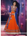 Pristine Orange Embroidered Work Anarkali Salwar Kameez