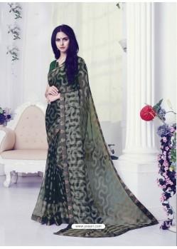Mehendi Designer Casual Wear Khushi BrassoᅠSari