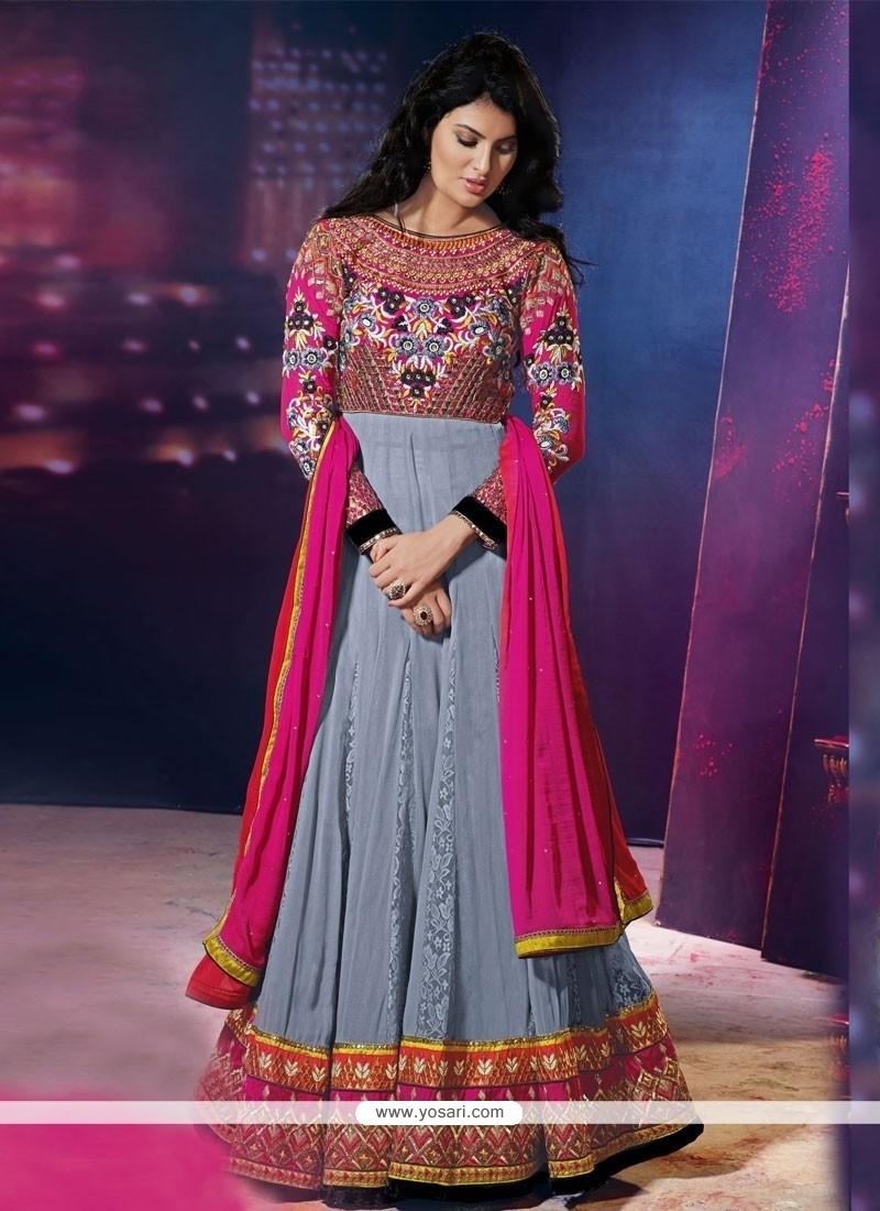 Imposing Georgette Anarkali Suit