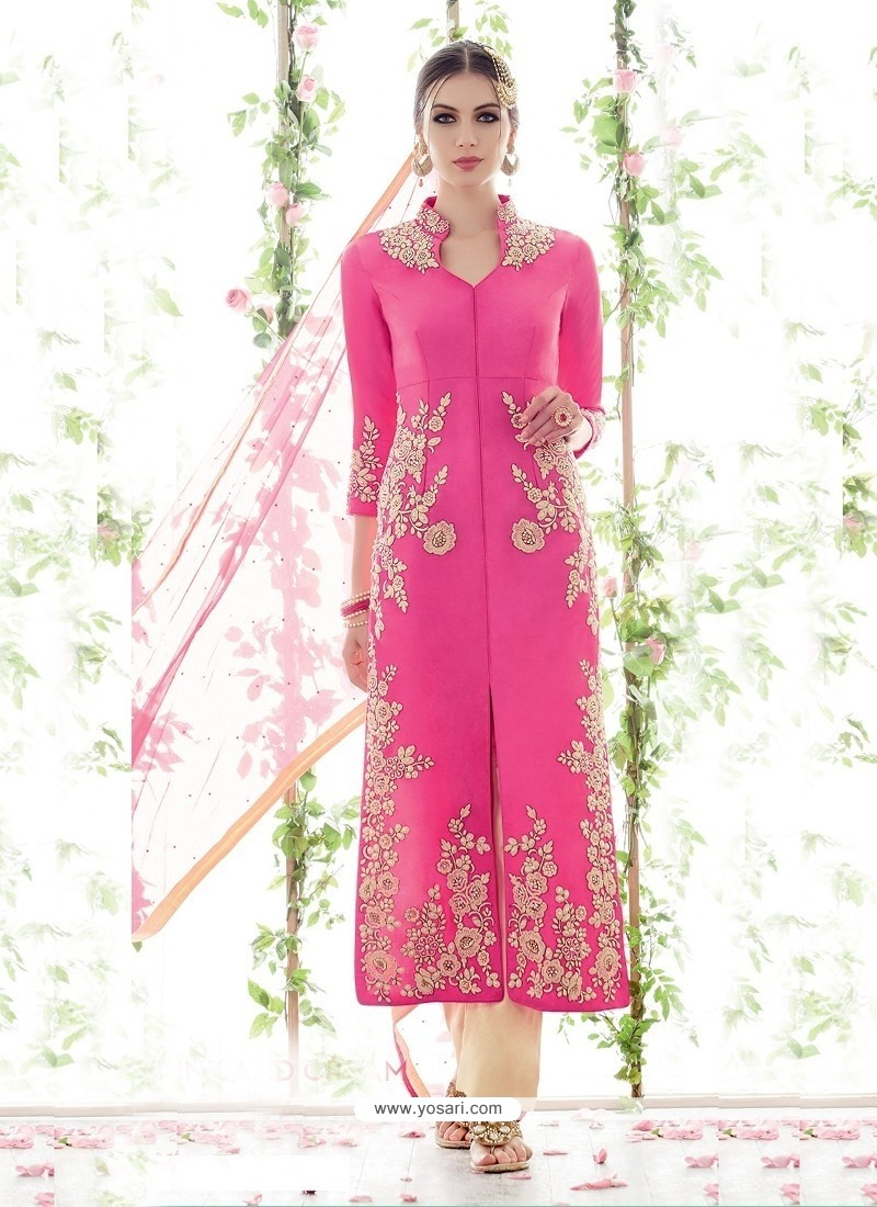 Immaculate Cotton Satin Salwar Suit