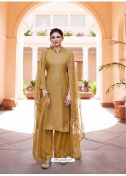 Marigold Heavy Designer Party Wear Palazzo Salwar Suit