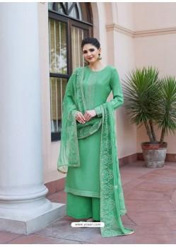 Jade Green Heavy Designer Party Wear Palazzo Salwar Suit