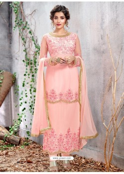 Pink Party Wear Designer Straight Salwar Suit