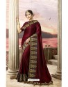Maroon Latest Party Wear Jeni Silk P/P VichitraᅠSari