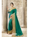 Aqua Mint Latest Party Wear Jeni Silk P/P VichitraᅠSari