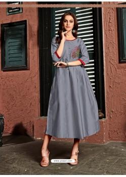 Pigeon Readymade Heavy Satin Cotton Party Wear Designer Kurti