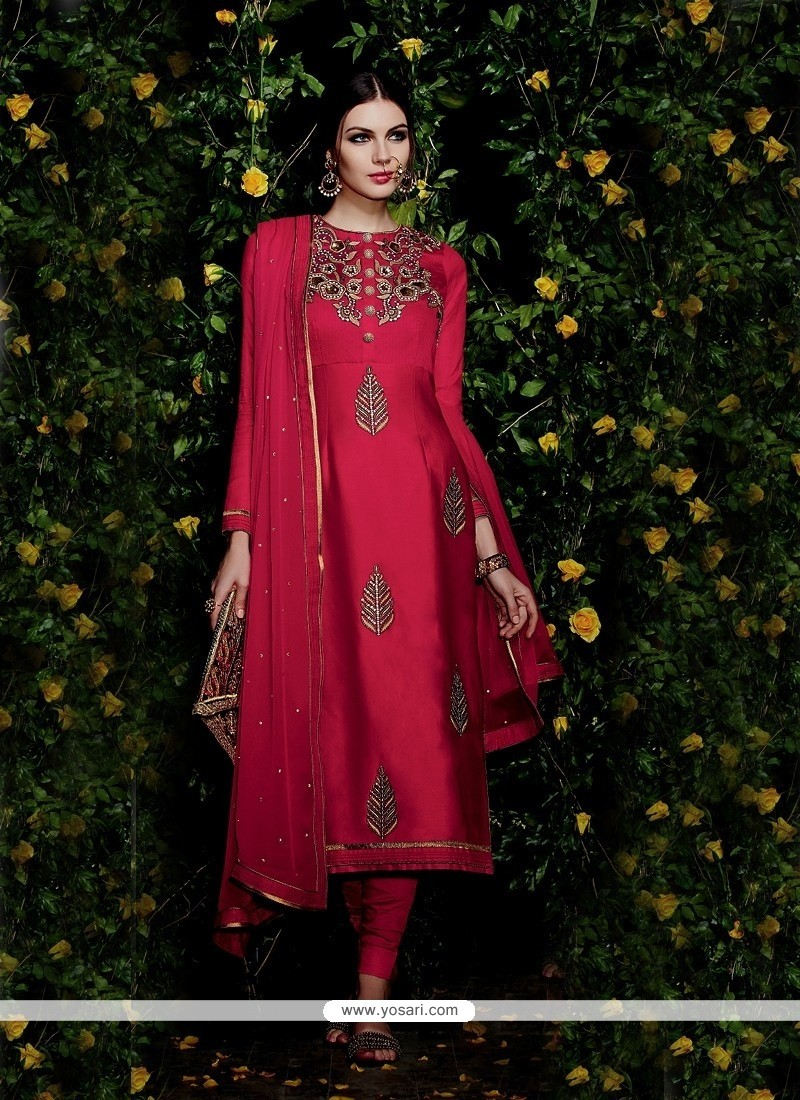 Precious Hot Pink Churidar Designer Suit