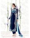 Glamorous Pure Georgette Blue Salwar Suit