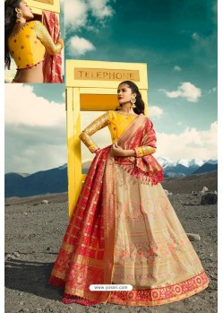 Light Beige Exclusive Silk Designer Readymade Lehenga Choli