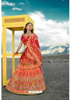 Multi Colour Exclusive Silk Designer Readymade Lehenga Choli