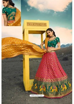 Rose Red Exclusive Silk Designer Readymade Lehenga Choli
