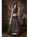 Multi Colour Heavy Embroidered Thai Silk Party Wear Lehenga Choli