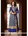 Exuberant Blue Designer Palazzo Salwar Kameez