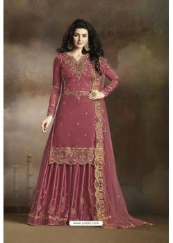 Old Rose Heavy Designer Party Wear Sharara Salwar Suit