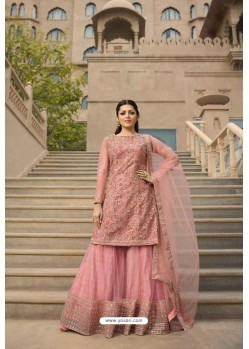 Pink Heavy Designer Party Wear Sharara Salwar Suit