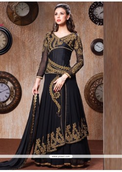 Enthralling Embroidered Work Ankle Length Anarkali Salwar Suit