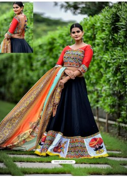 Carbon Embroidered Cotton Designer Lehenga Choli