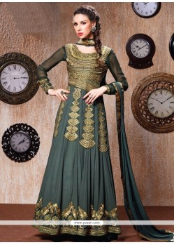 Opulent Faux Georgette Zari Work Anarkali Suit