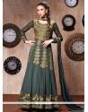 Opulent Faux Georgette Zari Work Anarkali Suit