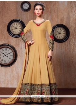 Orphic Faux Georgette Embroidered Work Anarkali Salwar Suit