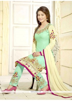 Hina Khan Embroidered Work Georgette Designer Salwar Suit