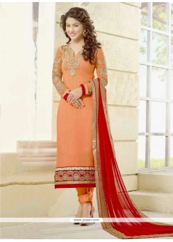 Hina Khan Georgette Churidar Salwar Suit