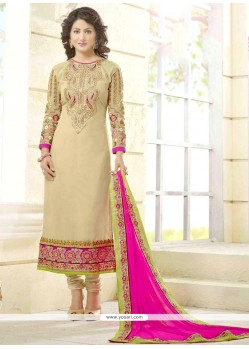 Hina Khan Lace Work Churidar Salwar Kameez