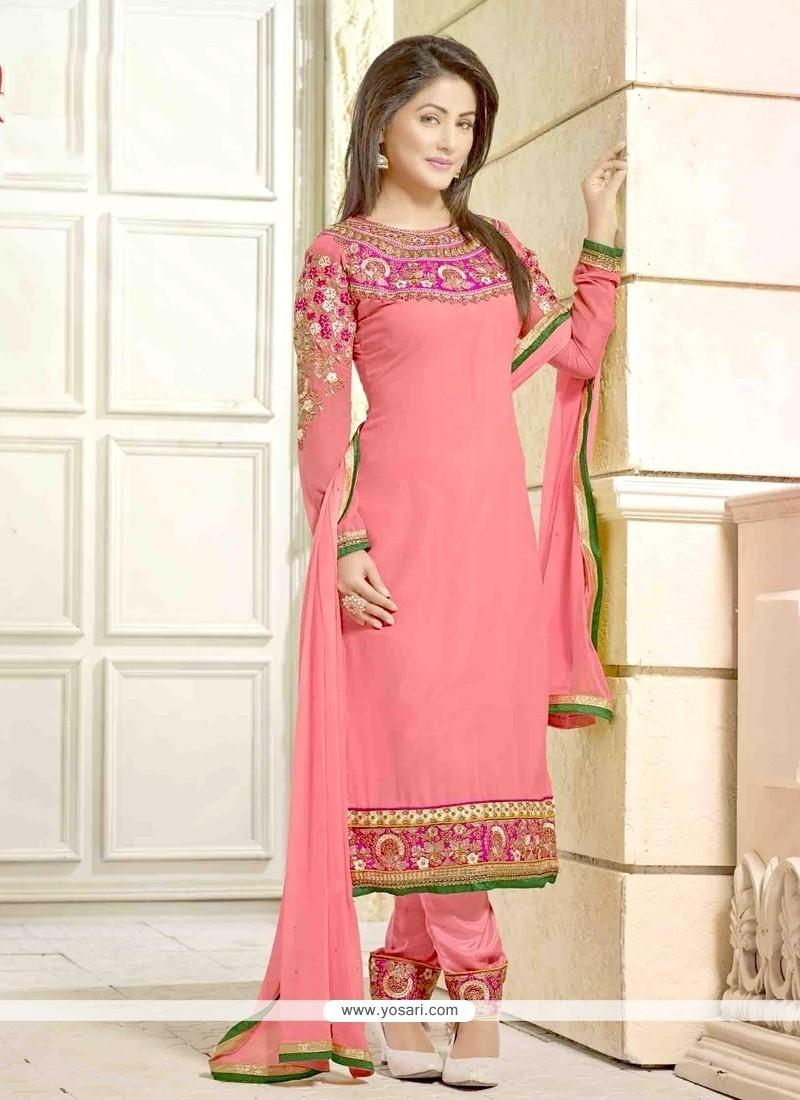 Hina Khan Georgette Designer Salwar Kameez