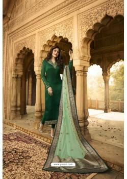 Dark Green Readymade Designer Party Wear Churidar Salwar Suit