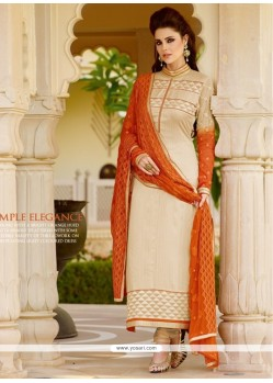 Specialised Embroidered Work Georgette Churidar Salwar Kameez