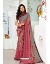 Multi Colour Designer Printed Georgette Sari