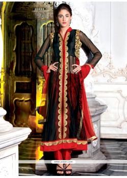 Dignified Embroidered Work Net Designer Salwar Kameez