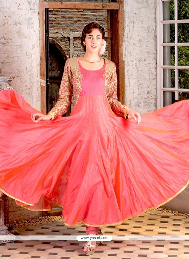 Sumptuous Georgette Embroidered Work Anarkali Salwar Kameez