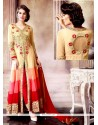 Multi Colour Faux Georgette Designer Salwar Suit