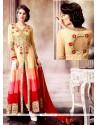 Multi Colour Faux Georgette Designer Salwar Suit