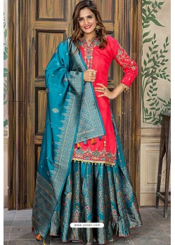 Rani Designer Party Wear Palazzo Salwar Suit