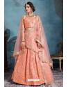 Light Orange Exclusive Art Silk Designer Readymade Lehenga Choli
