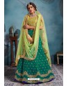 Aqua Mint Exclusive Art Silk Designer Readymade Lehenga Choli