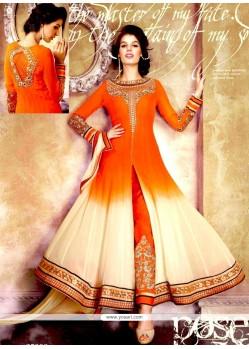 Charismatic Zari Work Faux Georgette Designer Salwar Kameez
