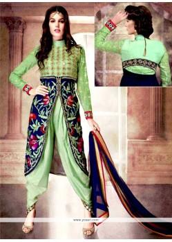 Titillating Zari Work Designer Patiala Salwar Kameez