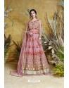 Light Pink Heavy Embroidered Heavy Butterfly Net Designer Anarkali Suit