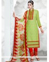 Distinctively Green Resham Work Salwar Suit