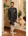 Carbon Readymade Heavy Embroidered Indowestern Sherwani For Men