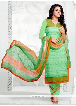 Awesome Cotton Embroidered Work Salwar Suit