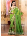 Blooming Green Pure Silk Party Wear Saree