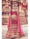 Rani Heavy Embroidered Velvet Bridal Lehenga Choli