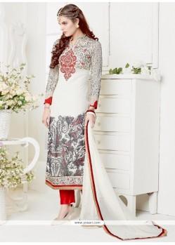 Artistic Georgette Print Work Designer Salwar Suit